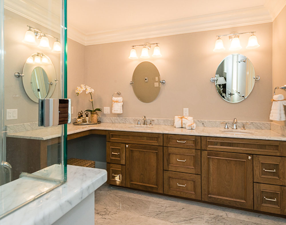 Winchester MA Custom Designed Bathroom Vanity By Carole