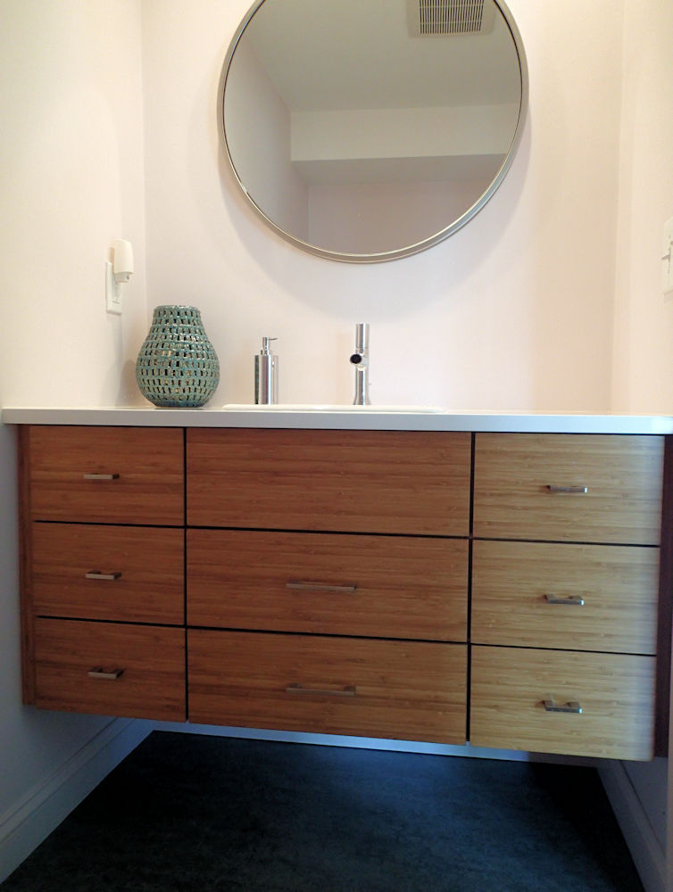 Woburn, MA Custom Designed Bathroom Vanity By Carole